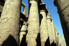 Hieroglyph columns Stock Photo