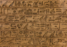 Hieroglyph. Egyptian hieroglyph on limestone, 1500-1200 BC stock photos