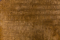 Hieroglyph. Egyptian hieroglyph on limestone, 1500-1200 BC royalty free stock photo