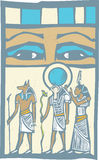 Hieroglyph Eyes Royalty Free Stock Image