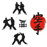 Hieroglyph of karate . Royalty Free Stock Images