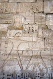 Hieroglyph of Pharaoh at war Royalty Free Stock Photos