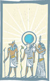 Hieroglyph Sun Rays Royalty Free Stock Images