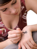 Hieroglyph tattoo Stock Photography