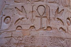 Hieroglyph texture from Egypt karnak. As very nice background stock image