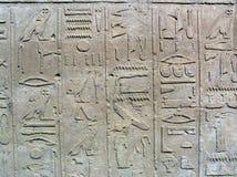 Hieroglyph wall. The hieroglyphics at the wall of Karnak Temple (Luxor, Egypt Stock Photography