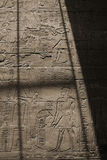 Hieroglyph wall. Ancient hieroglyph wall in Luxor temple, Egypt Stock Images