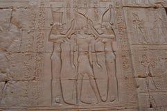 Hieroglyphen beleuchten die Weise lizenzfreie stockbilder