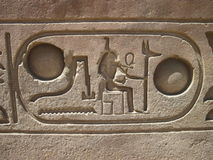 Hieroglyphen im Luxor-Tempel, Ägypten Stockfotos