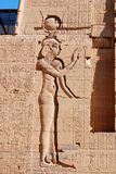 Hieroglyphic. Carvings in the walls at of an Egyptian ancient temple.Early Hieroglyphs were logograms representing words using graphical figures such as animals stock photography