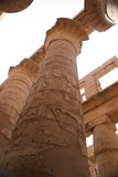 Hieroglyphic covered columns. In the Hypostyle Hall. Karnak Temple, Luxor, Egypt Royalty Free Stock Photography