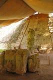 Hieroglyphic stairway. The longest pre-columbian hieroglyphic inscription in America stock image