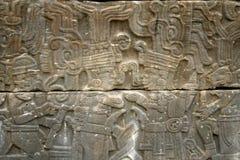 Hieroglyphic at Tajin. Veracruz, Mexico royalty free stock photo