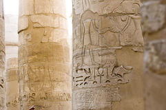 Hieroglyphic writing, Karnak, Egypt. Royalty Free Stock Images