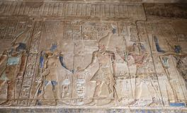 Hieroglyphics в виске Karnak, Луксоре, Египте стоковые изображения rf