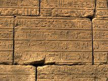 Hieroglyphics. From Luxor temple in Egypt stock photos