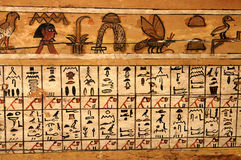 Hieroglyphics. Egyptian papyrus with ancient hieroglyphics Royalty Free Stock Images
