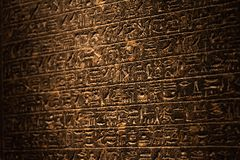 Hieroglyphics of ancient Egypt royalty free stock photo