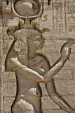 Hieroglyphics of ancient Egyptian. Hieroglyphics in egypt, Karnak temple Stock Photos