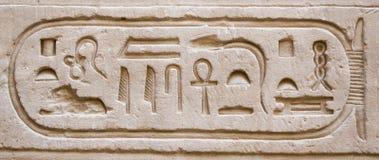 hieroglyphics ściana Obrazy Royalty Free