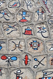 Hieroglyphics of Dongba language Royalty Free Stock Photo