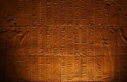 Hieroglyphics egípcios Imagem de Stock Royalty Free