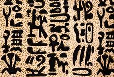 Hieroglyphics egipcios Fotografía de archivo