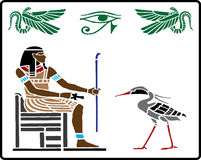 Hieroglyphics egipcios - 5 libre illustration