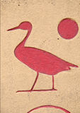 Hieroglyphics egipcios Fotos de archivo libres de regalías