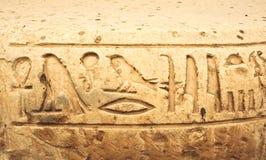 Hieroglyphics egiziani Fotografie Stock Libere da Diritti