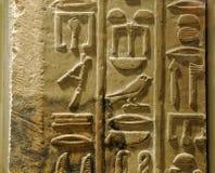Hieroglyphics egiziani Immagini Stock