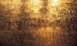 Hieroglyphics egiziani Fotografia Stock Libera da Diritti