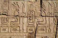Hieroglyphics egiziani Immagine Stock