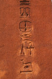 Hieroglyphics egiziani antichi Fotografie Stock