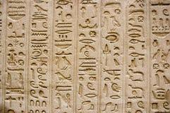 Hieroglyphics en la pared Imágenes de archivo libres de regalías