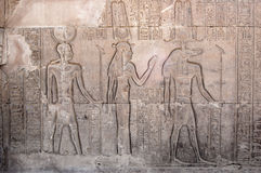 Hieroglyphics inside Philae Temple, Egypt Stock Photos