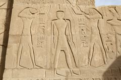 Hieroglyphics in Karnak Temple, Luxor, Egypt. Hieroglyphics in Karnak Temple, Luxor City, Egypt stock photography