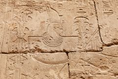 Hieroglyphics in Karnak Temple, Luxor, Egypt. Hieroglyphics in Karnak Temple, Luxor City, Egypt royalty free stock photography