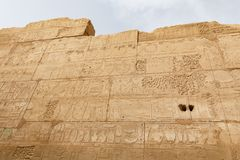 Hieroglyphics in Karnak Temple, Luxor, Egypt. Hieroglyphics in Karnak Temple, Luxor City, Egypt stock photos