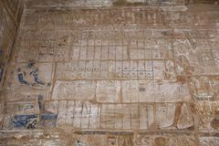 Hieroglyphics in Karnak Temple, Luxor, Egypt. Hieroglyphics in Karnak Temple, Luxor City, Egypt stock image