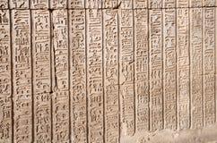 Hieroglyphics from Kom Ombo, Egypt. Royalty Free Stock Photo