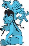 Hieroglyphics of maya - 2 Stock Images
