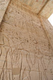 Hieroglyphics at Medinat Habu Temple Royalty Free Stock Photography