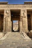 Hieroglyphics at Medinat Habu Temple Royalty Free Stock Images