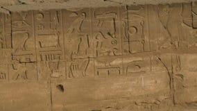 Hieroglyphics panning strzału zamknięty up zdjęcie wideo