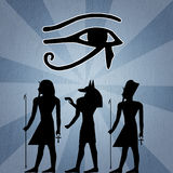 Hieroglyphics silhouette stock illustration