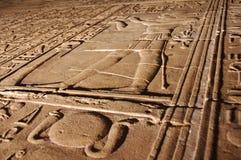 Hieroglyphics sulla parete Fotografia Stock