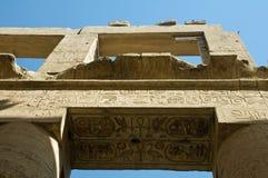 Hieroglyphics w Kom Ombo Obraz Royalty Free