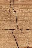 Hieroglyphics wall Stock Images