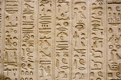 Hieroglyphics on the wall. Of Luxor temple Royalty Free Stock Images